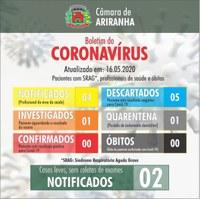 Boletim diário Corona Vírus (COVID-19) – 16/05/2020