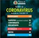 Boletim diário Corona Vírus (COVID-19) – 19/06/2020
