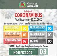 Boletim diário Corona Vírus (COVID-19) – 23/05/2020