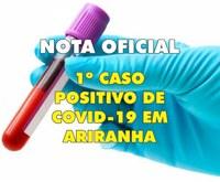 Município de Ariranha confirma o primeiro caso de Covid-19