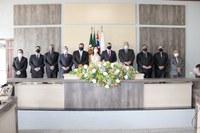 Prefeito, vice e vereadores de Ariranha tomam posse em cerimônia restrita na Câmara